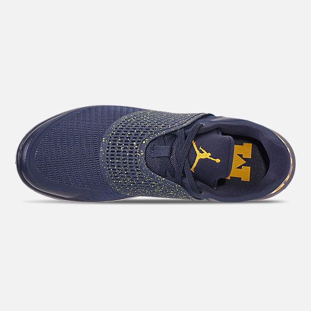 0c1c5746db9714 Top view of Men s Jordan Grind 2 Michigan Wolverines Running Shoes in  College Navy Amarillo