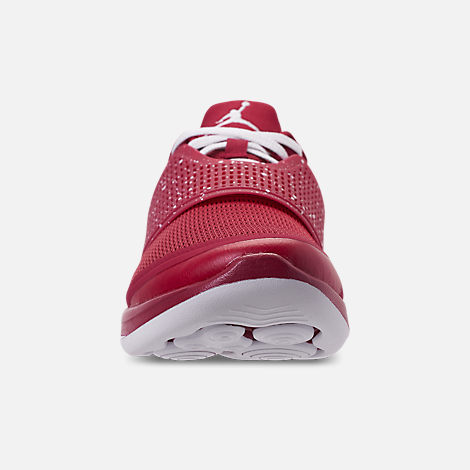 e25977c52c94d3 Front view of Men s Jordan Grind 2 Oklahoma Sooners Running Shoes in Red  Crush White