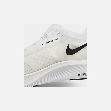 Front view of Men's Nike Zoom Fly 3 Running Shoes in White/Black/Atmosphere Grey