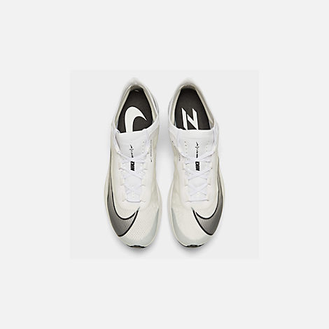 Back view of Men's Nike Zoom Fly 3 Running Shoes in White/Black/Atmosphere Grey