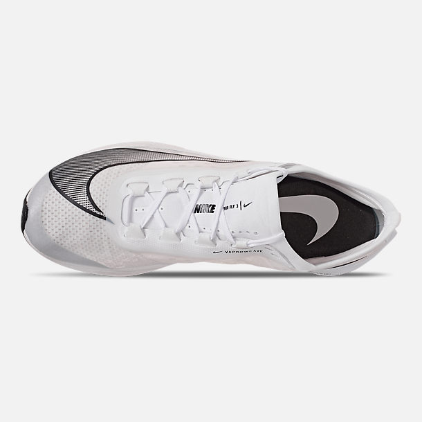 Top view of Men's Nike Zoom Fly 3 Running Shoes in White/Black/Atmosphere Grey