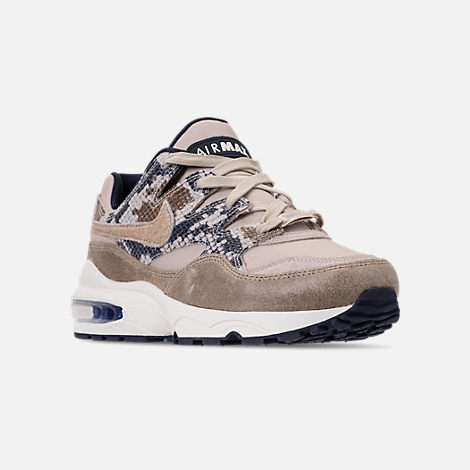 Three Quarter view of Men's Nike AIr Max 94 SOF Casual Shoes in Newsprint/String/Canteen/Cirrus Blue
