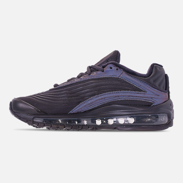 Left view of Women's Nike Air Max Deluxe SE Casual Shoes in Oil Grey/Oil Grey/Oil Grey
