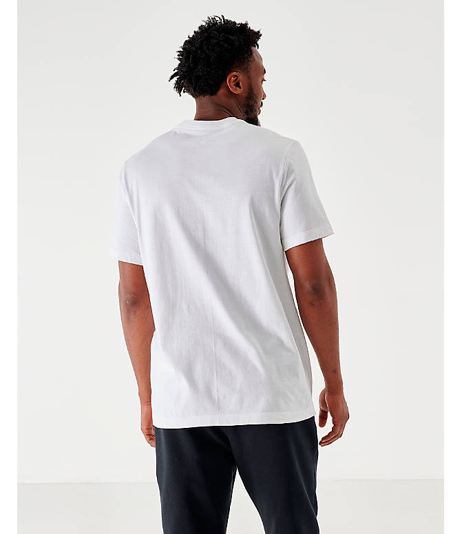Back Left view of Men's Jordan Wavy Photo T-Shirt in White