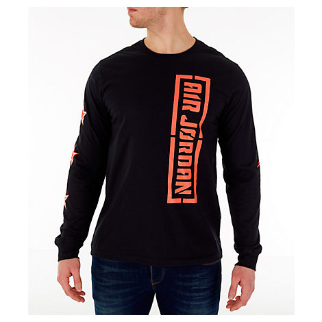 Nike Tops MEN'S JORDAN CITY OF FLIGHT LONG SLEEVE T-SHIRT, BLACK