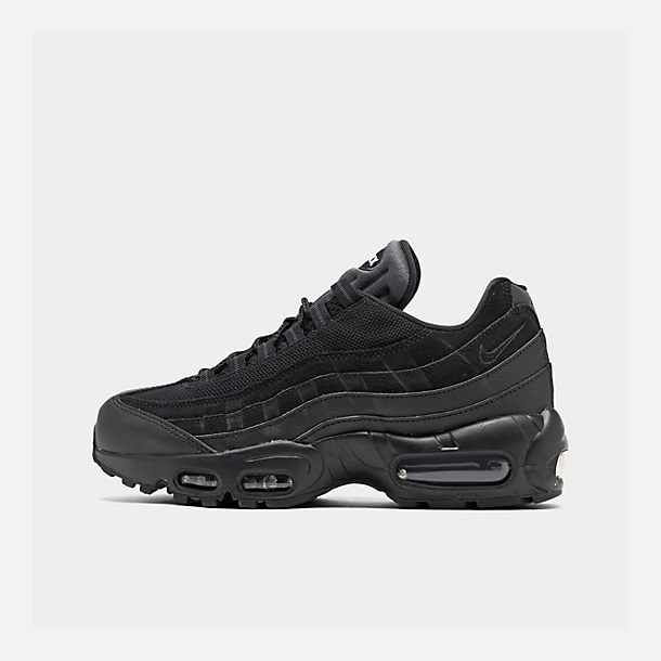 Right view of Men's Nike Air Max 95 Essential Casual Shoes in Black/Black/Anthracite