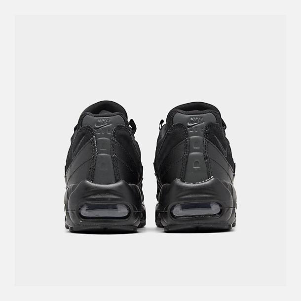 Left view of Men's Nike Air Max 95 Essential Casual Shoes in Black/Black/Anthracite