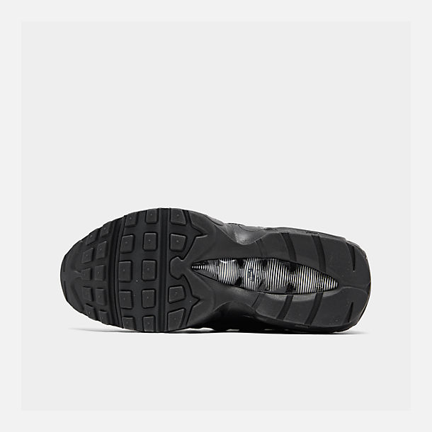 Bottom view of Men's Nike Air Max 95 Essential Casual Shoes in Black/Black/Anthracite