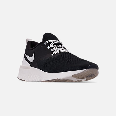 separation shoes 2da9f bcda0 Three Quarter view of Mens Nike Odyssey React Flyknit 2 Nathan Bell  Running Shoes in Black