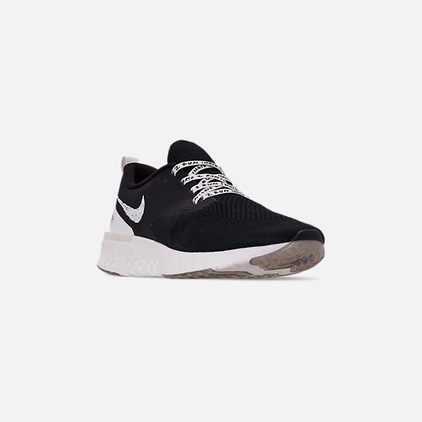 e40904c8ec7 Three Quarter view of Men s Nike Odyssey React Flyknit 2 Nathan Bell  Running Shoes in Black