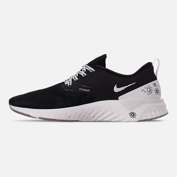 2e8643be7b3 Left view of Men s Nike Odyssey React Flyknit 2 Nathan Bell Running Shoes  in Black