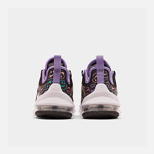 Left view of Little Kids' Nike Air Max Axis Print Casual Shoes in Black/White/Space Purple/Hyper Jade
