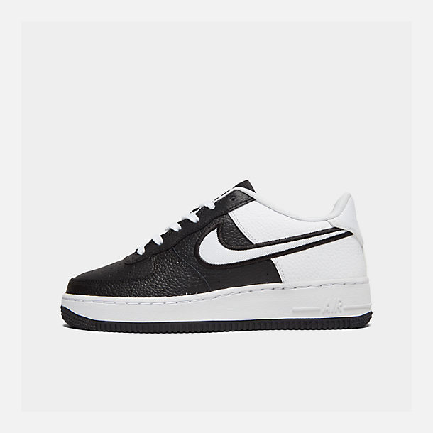 Right view of Boys' Big Kids' Nike Air Force 1 LV8 1 Casual Shoes in Black/White