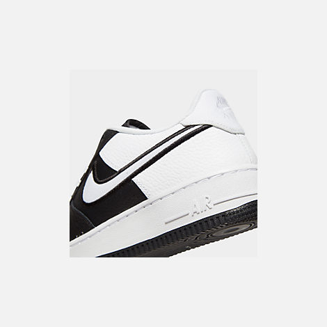 Front view of Boys' Big Kids' Nike Air Force 1 LV8 1 Casual Shoes in Black/White