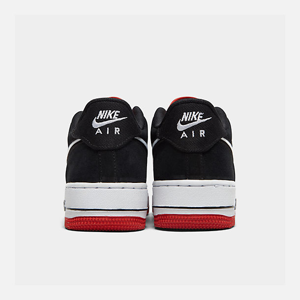 Left view of Boys' Big Kids' Nike Air Force 1 LV8 1 Casual Shoes in Mystic Red/White/Black