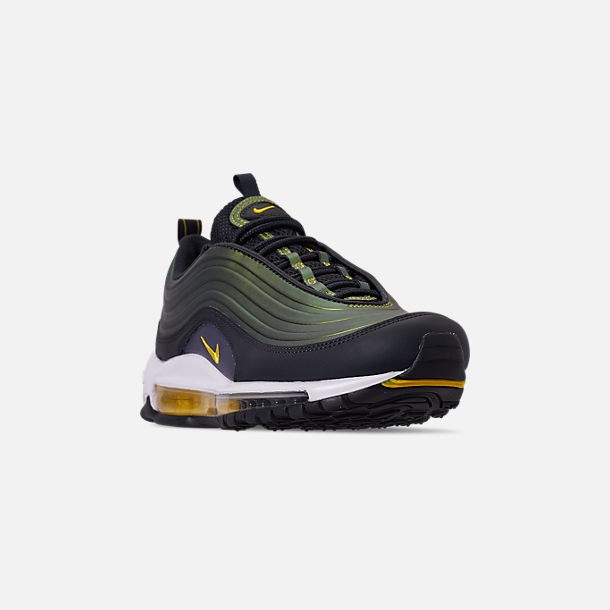 Three Quarter view of Men's Nike Air Max 97 LX Casual Shoes in Anthracite/Amarillo/Summit White