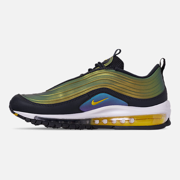 Left view of Men's Nike Air Max 97 LX Casual Shoes in Anthracite/Amarillo/Summit White