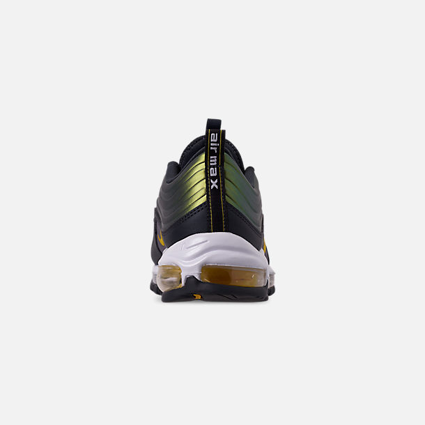 Back view of Men's Nike Air Max 97 LX Casual Shoes in Anthracite/Amarillo/Summit White