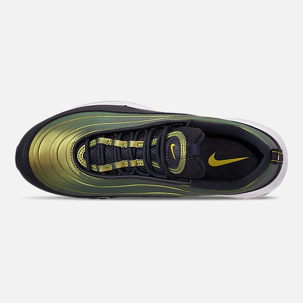 Top view of Men's Nike Air Max 97 LX Casual Shoes in Anthracite/Amarillo/Summit White
