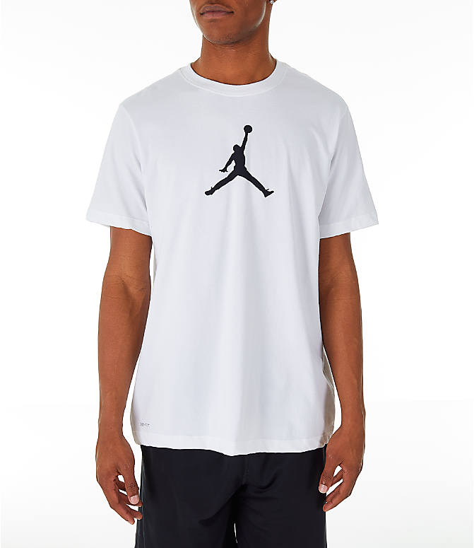 Front view of Men's Jordan Iconic 23/7 Training T-Shirt in White/Black