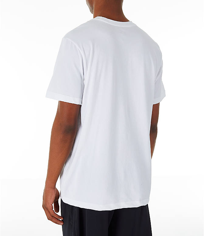 Back Left view of Men's Jordan Iconic 23/7 Training T-Shirt in White/Black