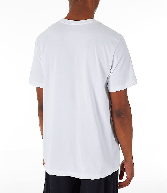 Back Right view of Men's Jordan Iconic 23/7 Training T-Shirt in White/Black
