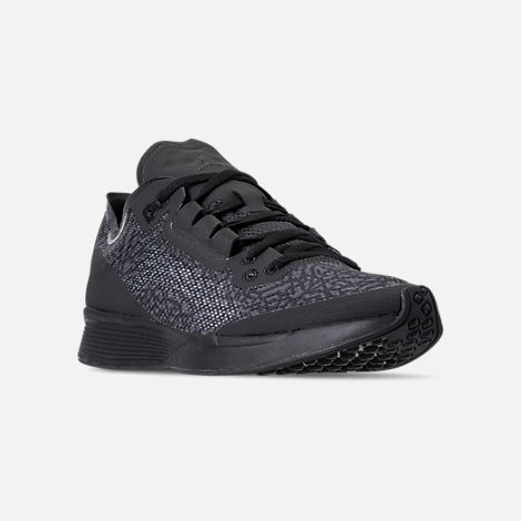 Three Quarter view of Men's Jordan '88 Racer Running Shoes in Black/Anthracite