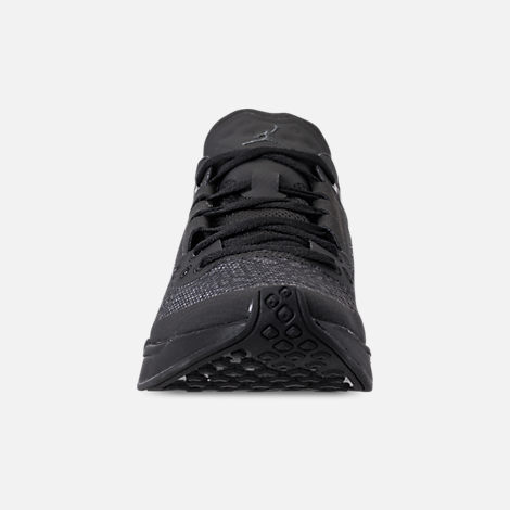 Front view of Men's Jordan '88 Racer Running Shoes in Black/Anthracite