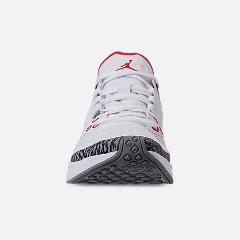 Front view of Men's Jordan '88 Racer Running Shoes in White/Fire Red/Black/Cement Grey