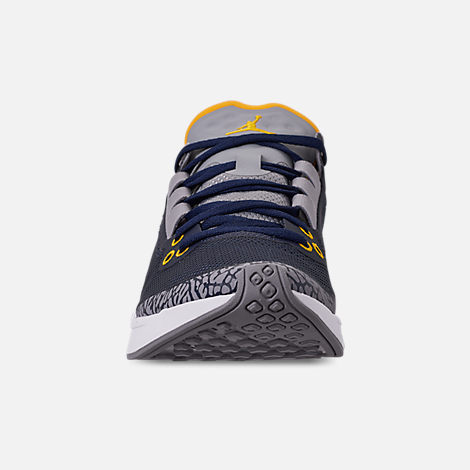 88b44e4c Front view of Men's Jordan '88 Racer Running Shoes in Dark Obsidian/White/
