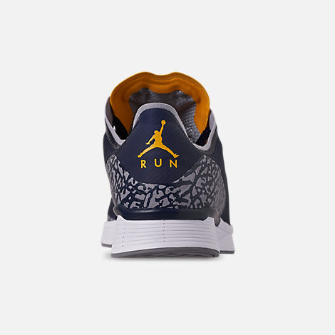 Back view of Men's Jordan '88 Racer Running Shoes in Dark Obsidian/White/Khaki