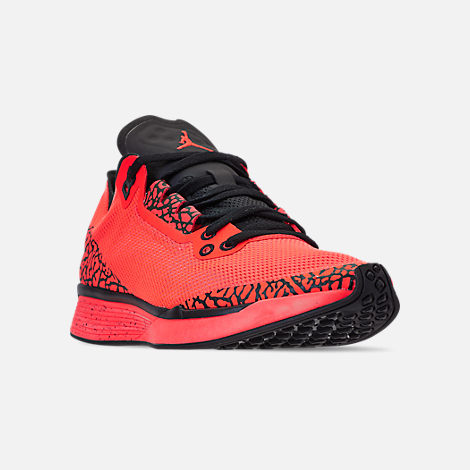 6d386378a6ec4a Three Quarter view of Men s Jordan  88 Racer Running Shoes in Infrared Black