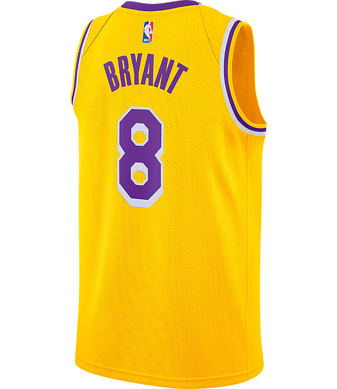 Front view of Men s Nike Los Angeles Lakers NBA Kobe Bryant Icon Edition  Connected Jersey in e4b2a5008