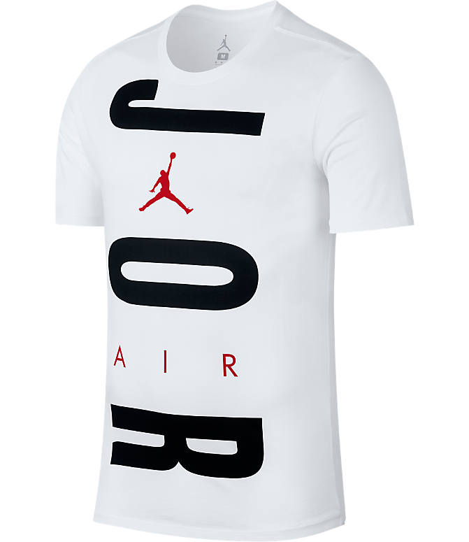 Front view of Men's Jordan Air Wordmark T-Shirt in White