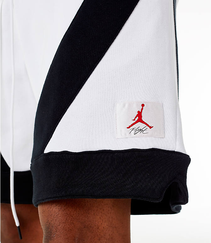 Detail 1 view of Men's Jordan Flight Loop Training Shorts in White/Black/Black