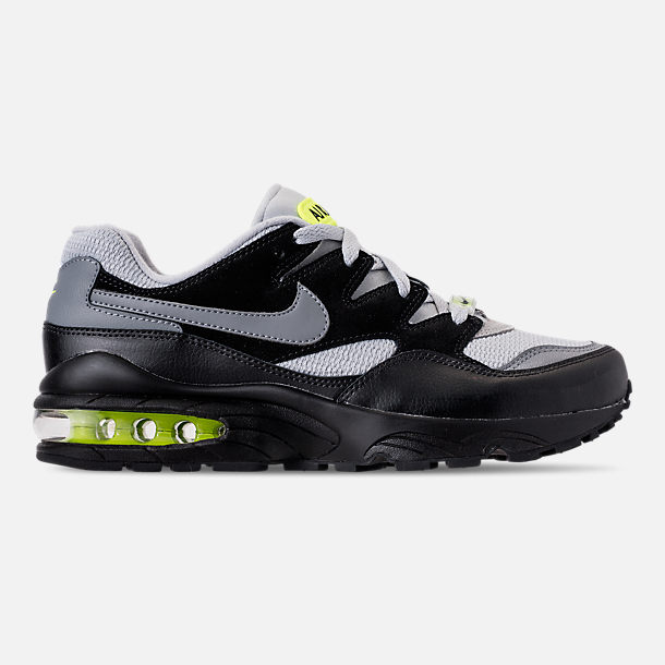 Right view of Men's Nike Air Max 94 Casual Shoes in Wolf Grey/Cool Grey/Black/Volt