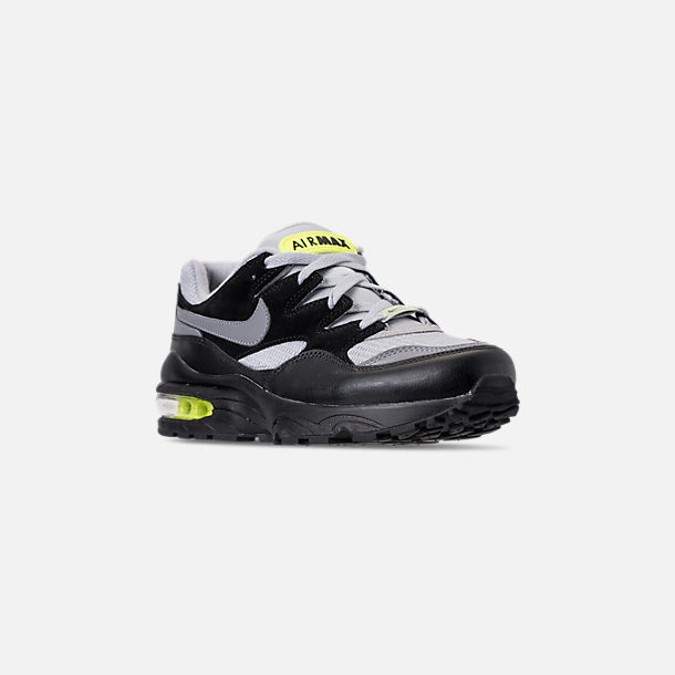 Three Quarter view of Men's Nike Air Max 94 Casual Shoes in Wolf Grey/Cool Grey/Black/Volt