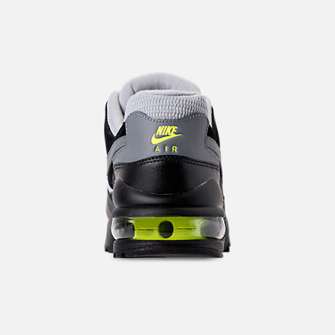 Back view of Men's Nike Air Max 94 Casual Shoes in Wolf Grey/Cool Grey/Black/Volt