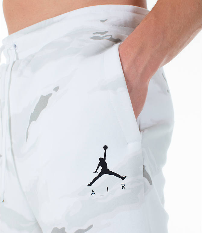 Detail 1 view of Men's Jordan Sportswear Jumpman Camo Jogger Pants in White