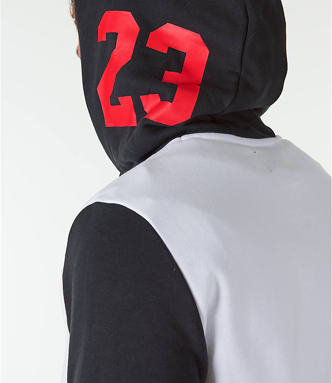 Detail 2 view of Men's Jordan Sportswear Air Jumpman GFX Hoodie in White/Black