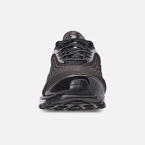 Front view of Unisex Nike Air Max Deluxe Running Shoes in Black/Dark Grey