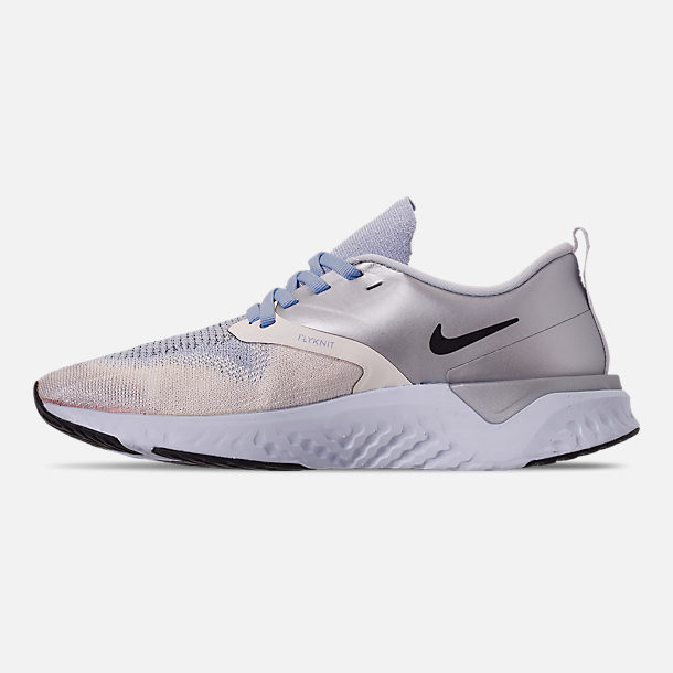 Left view of Women s Nike Odyssey React Flyknit 2 Premium Running Shoes in  Metallic Silver  57f63c0a8
