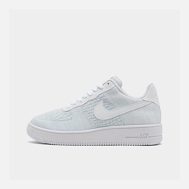 09127be4 Right view of Men's Nike Air Force 1 Flyknit 2.0 Casual Shoes in White/Pure