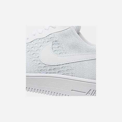 cb0dc23a Front view of Men's Nike Air Force 1 Flyknit 2.0 Casual Shoes in White/Pure