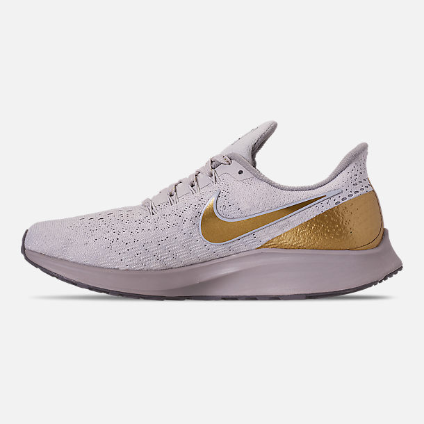 a70bd1710d93 Left view of Women s Nike Air Zoom Pegasus 35 Premium Metallic Running Shoes  in Vast Grey