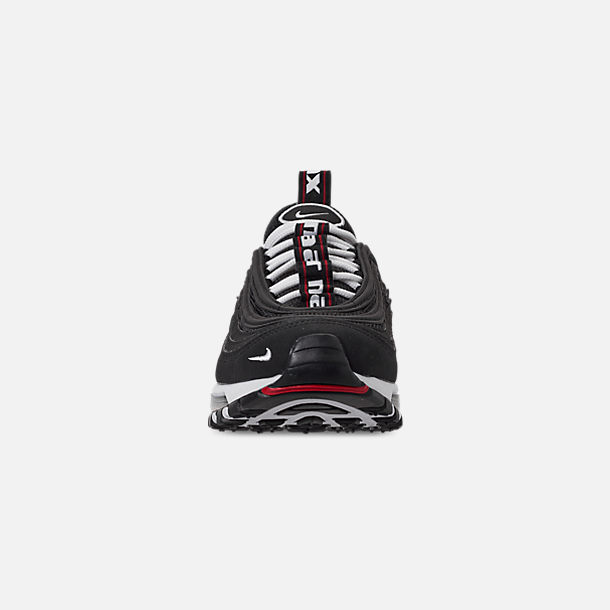 Front view of Boys' Big Kids' Nike Air Max 97 SE Casual Shoes in Black/White/Varsity Red