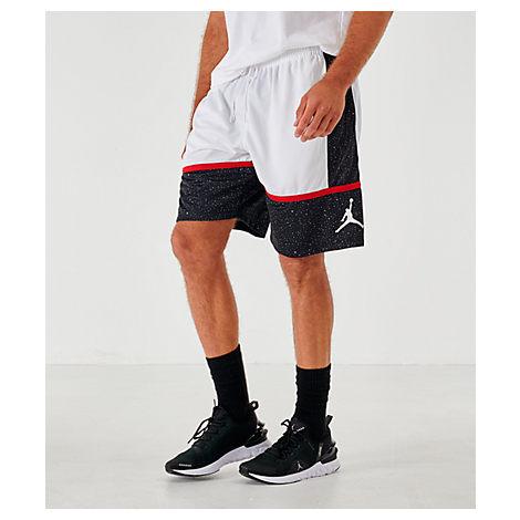 Nike Jordan Men's Jumpman Speckle Basketball Shorts In White