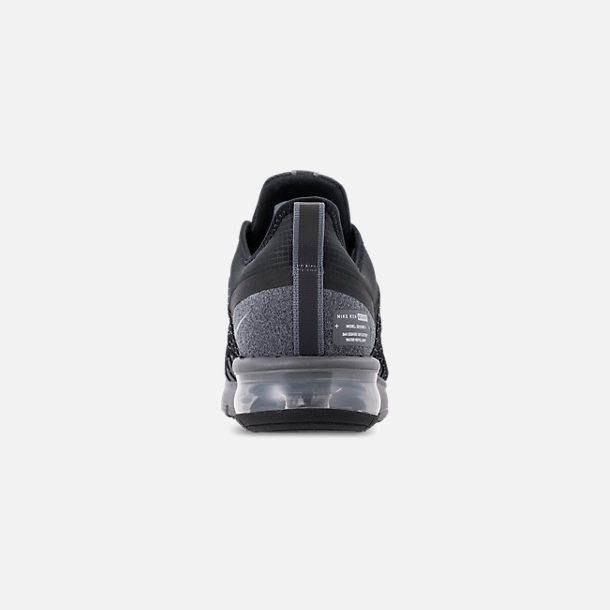 b8ff6a02adde Back view of Men s Nike Air Max Sequent 4 Shield Casual Shoes in  Black Metallic