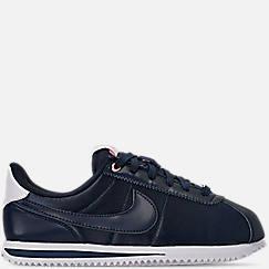 Girls' Big Kids' Nike Cortez Basic Textile Casual Shoes