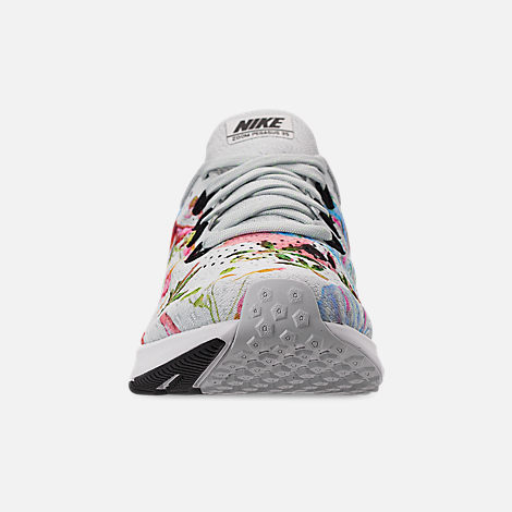 Front view of Women's Nike Air Zoom Pegasus 35 Graphic Running Shoes in Pure Platinum/Black/White